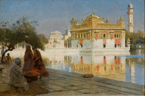 Across The Pool To The Golden Temple Of Amritsar - Posters by Edwin Lord Weeks