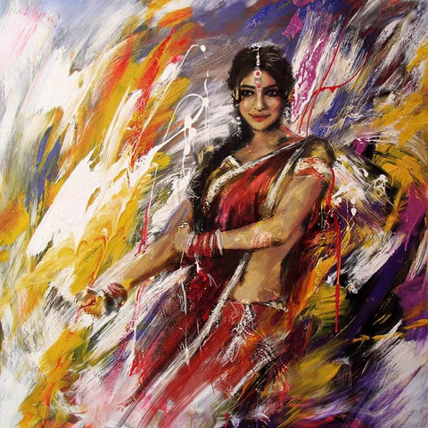 Acrylic Art - Indian Classical Dancer