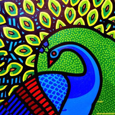 Acrylic Art - Peacock