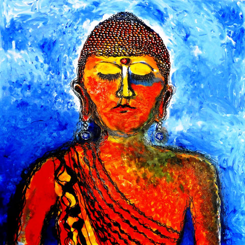 Acrylic Painting - Buddha - Posters
