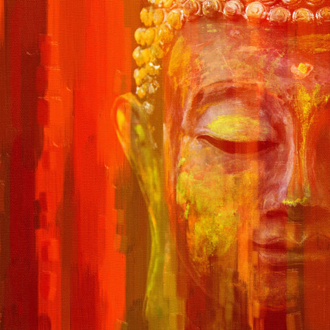 Acrylic Painting - Meditating Buddha by James Britto