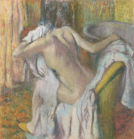 After the Bath, Woman Drying Herself