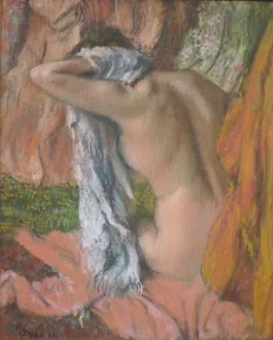 After The Bath, Woman Drying Her Neck
