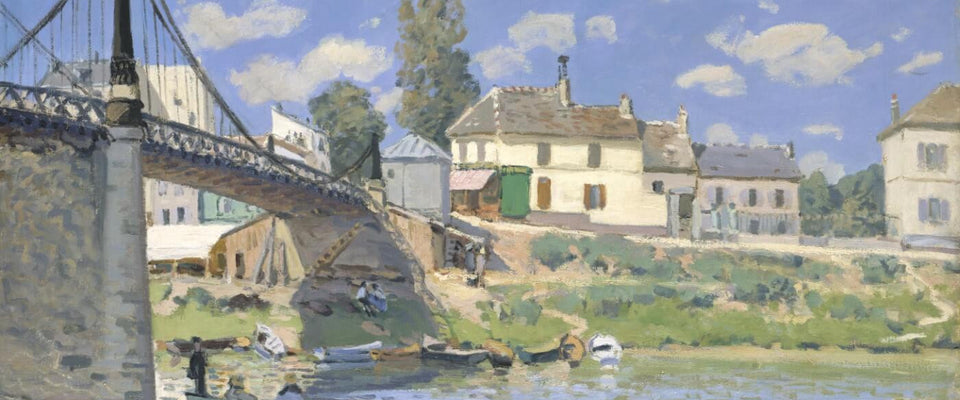 Bridge at Villeneuve-la-Garenne by Alfred Sisley | Buy Posters, Frames, Canvas  & Digital Art Prints