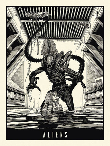 Alien - Tallenge Classic Sci-Fi Hollywood  Movie Art Poster Collection - Posters