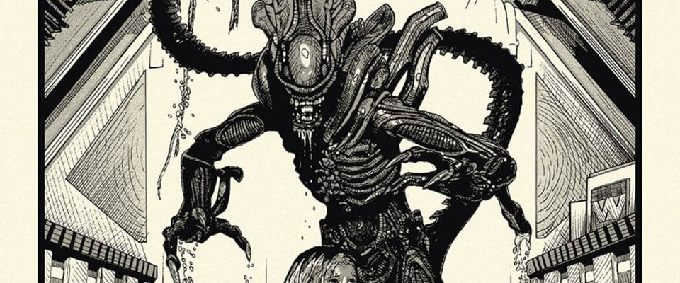 Alien - Tallenge Classic Sci-Fi Hollywood  Movie Art Poster Collection by Tim | Buy Posters, Frames, Canvas  & Digital Art Prints