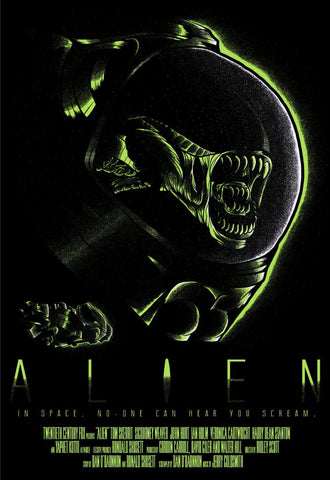 Alien - Tallenge Classic Sci-Fi Hollywood  Movie Poster by Tim