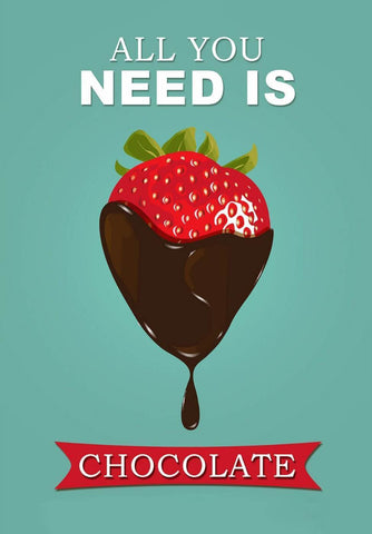 All You Need Is Chocolate - Canvas Prints