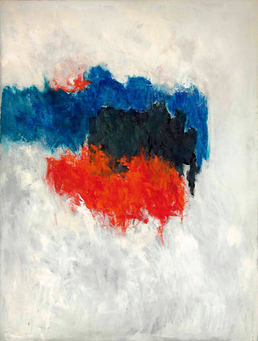 Almost Red White And Blue - Abstract Expressionism Painting