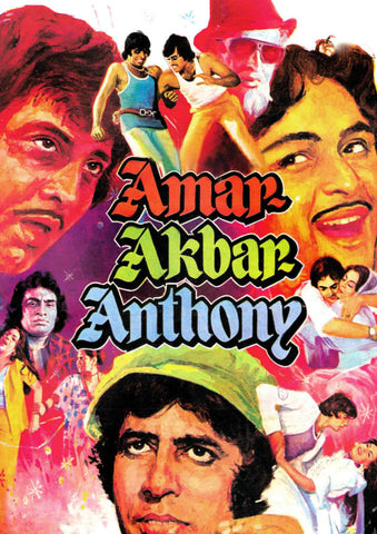 Amar Akbar Anthony - Amitabh Bachchan - Hindi Movie Poster - Tallenge Bollywood Poster Collection