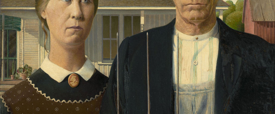 American Gothic by Grant Wood | Buy Posters, Frames, Canvas  & Digital Art Prints