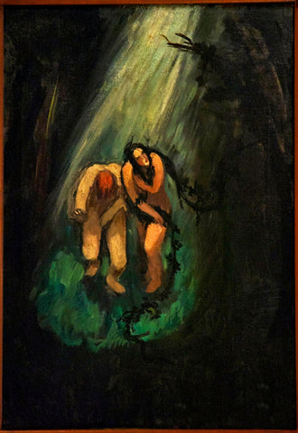 Indian Art - Amrita Sher-Gil - Adam And Eve