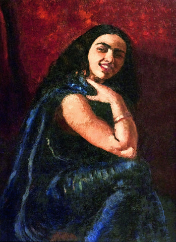 Indian Art - Amrita Sher-Gil - Self Portrait II