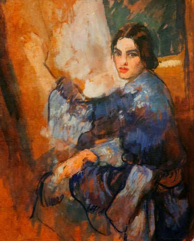 Indian Art - Amrita Sher-Gil - Self Portrait