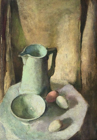 Indian Art - Amrita Sher-Gil - Still Life With Eggs by Amrita Sher-Gil