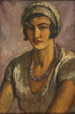 Indian Art - Amrita Sher-Gil - Girl In Mauve