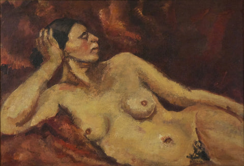 Indian Art - Amrita Sher-Gil - Nude Study by Amrita Sher-Gil