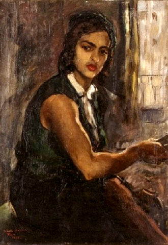 Indian Art - Amrita Sher-Gil - Self Portrait III