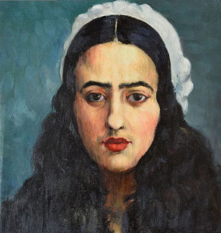 Indian Art - Amrita Sher-Gil - Self Portrait IV