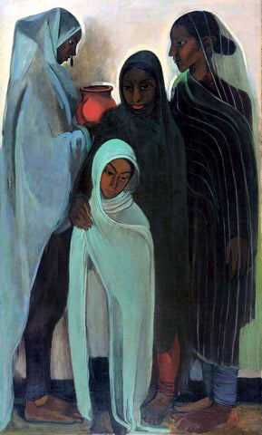 Indian Art - Amrita Sher-Gil - Hill Women