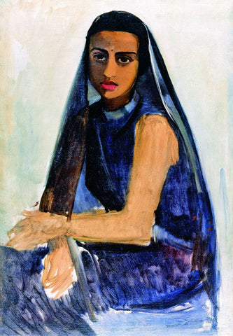 Self In Making - Amrita Sher-Gil - Self Portrait Ethnic by Amrita Sher-Gil