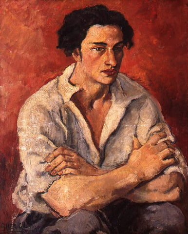 Indian Art - Amrita Sher-Gil - Portrait Of A Young Man by Amrita Sher-Gil