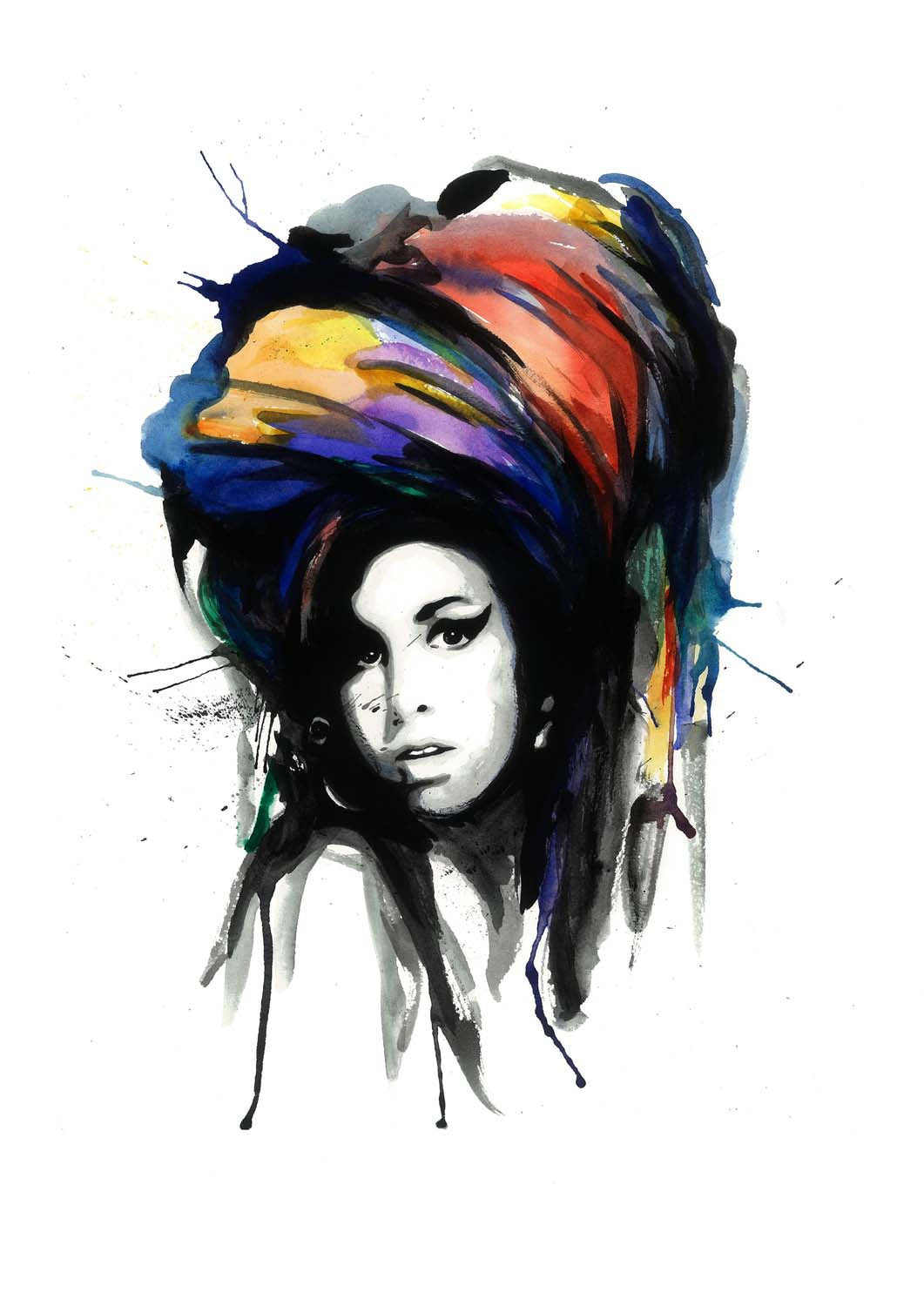 Amy Winehouse Life is short PICTURE Print On Framed Canvas Wall Art