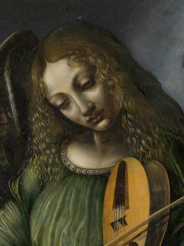 An Angel In Green With A Vielle by Giovanni Ambrogio de Predis