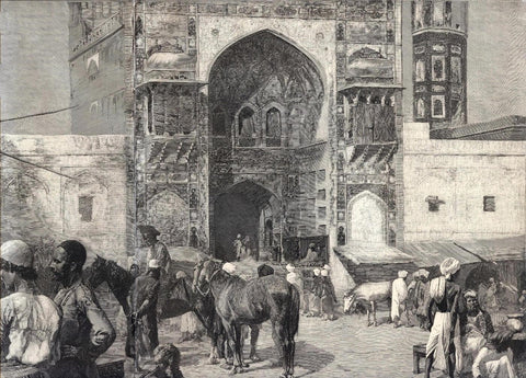 An Openair Restaurant In Lahore   - Edwin Lord Weeks