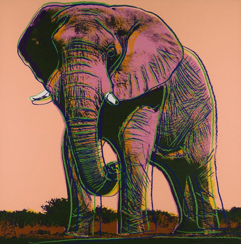 Andy Warhol - Endangered Animal Series  - African Elephant - Canvas Prints