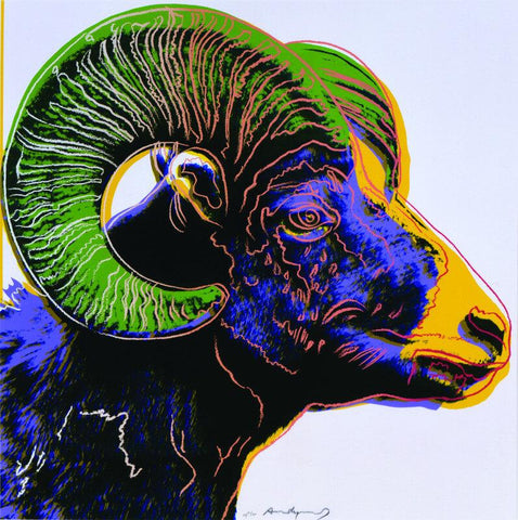 Andy Warhol - Endangered Animal Series - Big Horn Ram - Posters by Andy Warhol