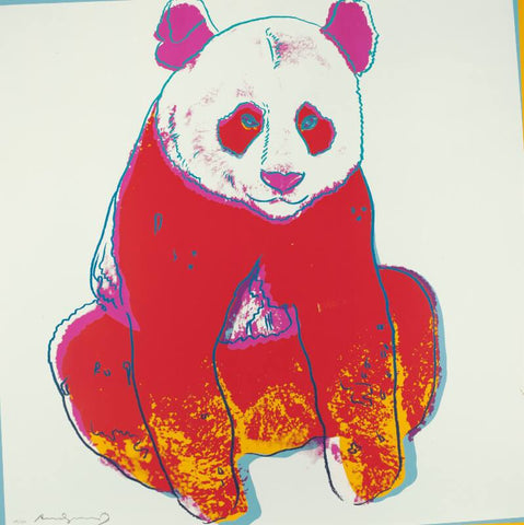 Andy Warhol - Endangered Animal Series -  Panda - Posters by Andy Warhol