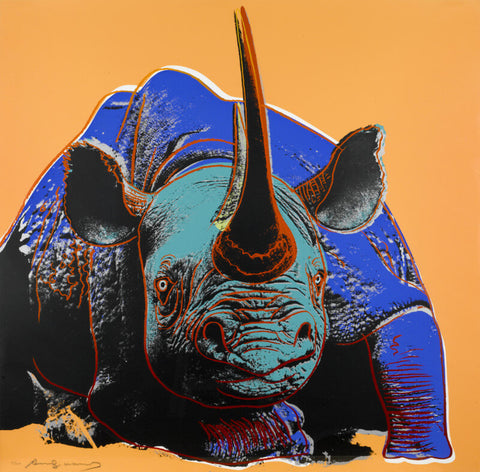 Andy Warhol - Endangered Animal Series - Rhinoceros