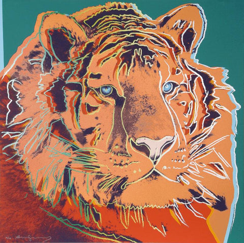 Andy Warhol - Endangered Animal Series -  Siberian Tiger - Posters by Andy Warhol