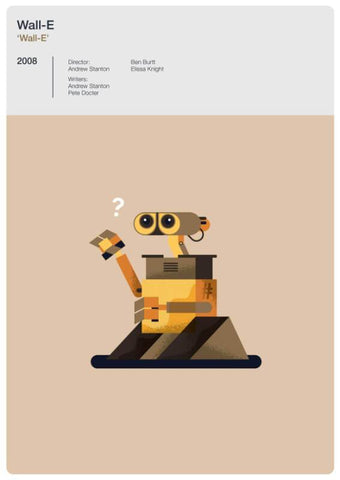 Animation Classic Movie Poster Fan Art - Wall-E- Tallenge Hollywood Poster Collection - Posters