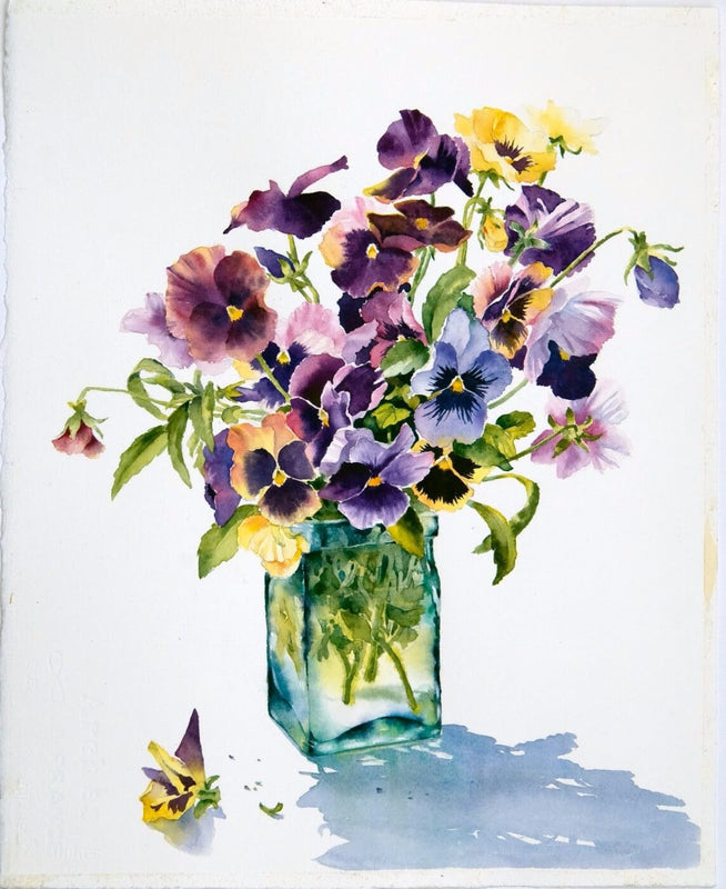 Ann Mortimer - Pansies