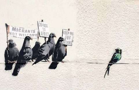 Anti-immigration - Banksy