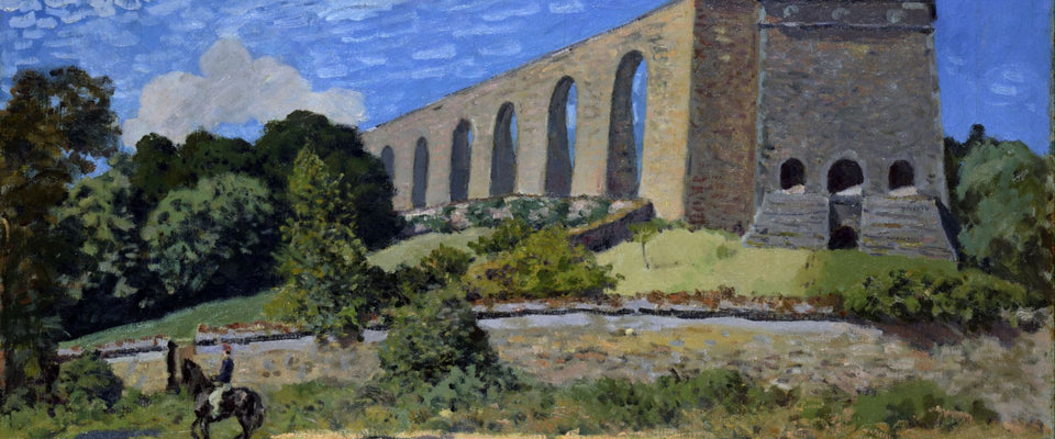 Aqueduct at Marly by Alfred Sisley | Buy Posters, Frames, Canvas  & Digital Art Prints