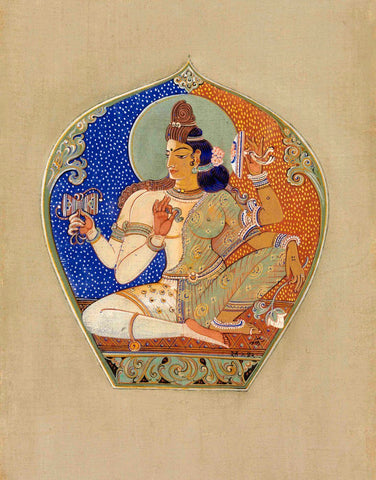 Ardhanarishvara - Nandlal Bose - Bengal School Indian Painting