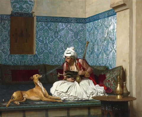 Arnaut and his dog - Jean Léon Gérôme