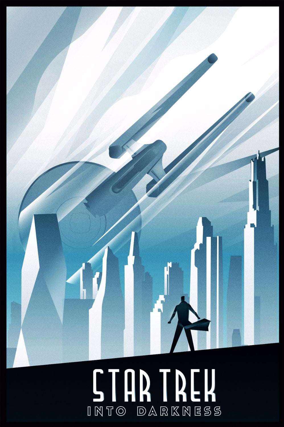 Art deco poster star trek into the darkness hollywood collection posters
