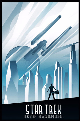 Art Deco Poster - Star Trek - Into The Darkness - Hollywood Collection