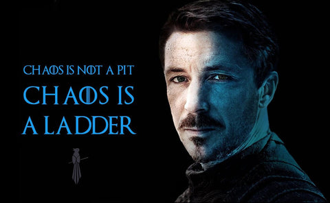 Art From Game Of Thrones - Chaos Is A Ladder - Petyr Baelish by Mariann Eddington