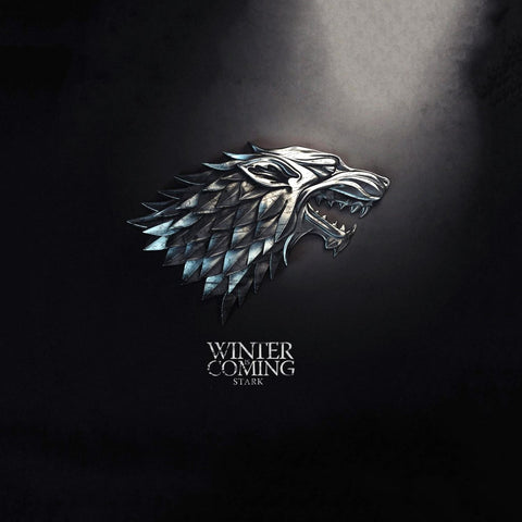 Art From Game Of Thrones - Direwolf Sigil Of House Stark - Winter Is Coming - Posters by Hamid Raza