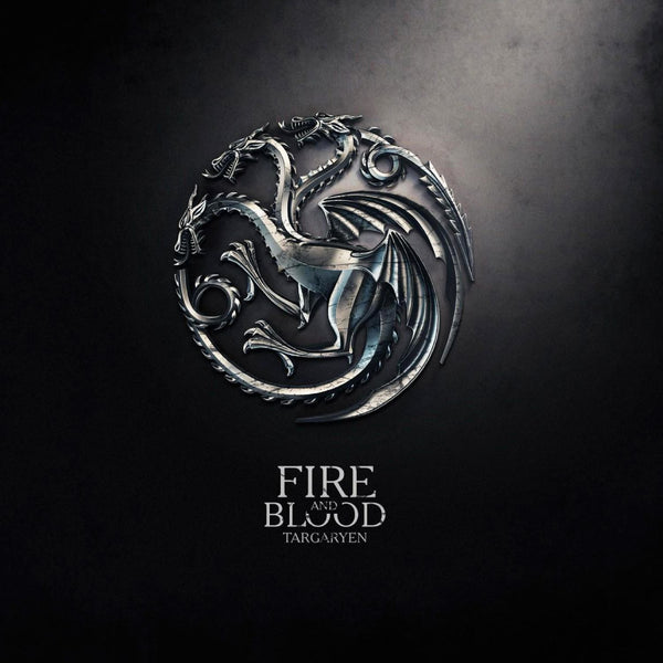 Art From Game Of Thrones - Dragon Sigil Of House Targaryen - Fire And Blood - Posters