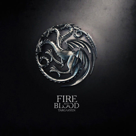 Art From Game Of Thrones - Dragon Sigil Of House Targaryen - Fire And Blood