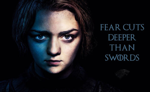 Art From Game Of Thrones - Fear Cuts Deeper Than Swords - Arya Stark by Mariann Eddington