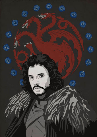 Art From Game Of Thrones - Jon Snow - Posters by Hamid Raza