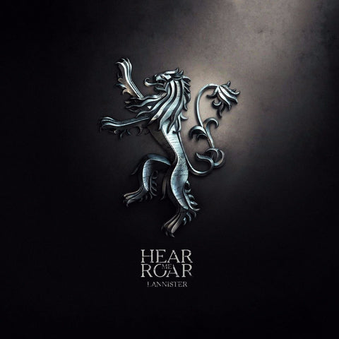 Art From Game Of Thrones - Sigil Of House Lannister - Hear Me Roar - Posters by Hamid Raza