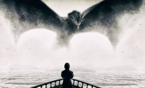 Art From Game Of Thrones - The Imp - Tyrion Lannister And Drogon